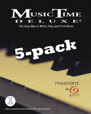 Music Time Dlx 5-pack